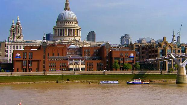 St. Paul's Cathedral and River Thames, London, England