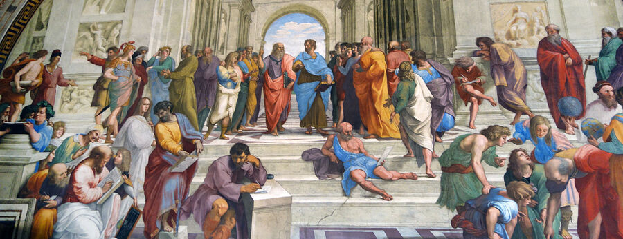 'School of Athens' (Michelangelo), Vatican Museums, Rome, Italy