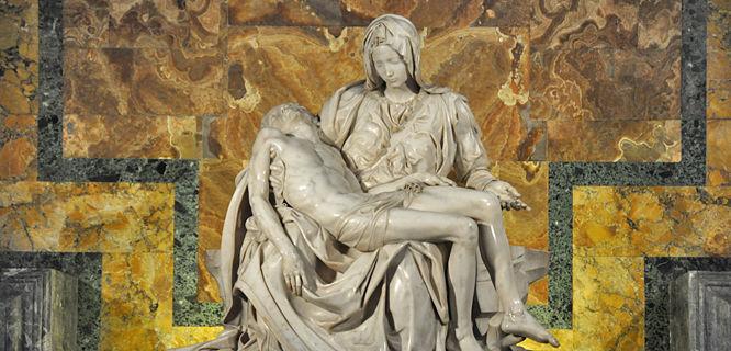 Pietà (Michelangelo), St. Peter's Basilica, Vatican City, Rome, Italy