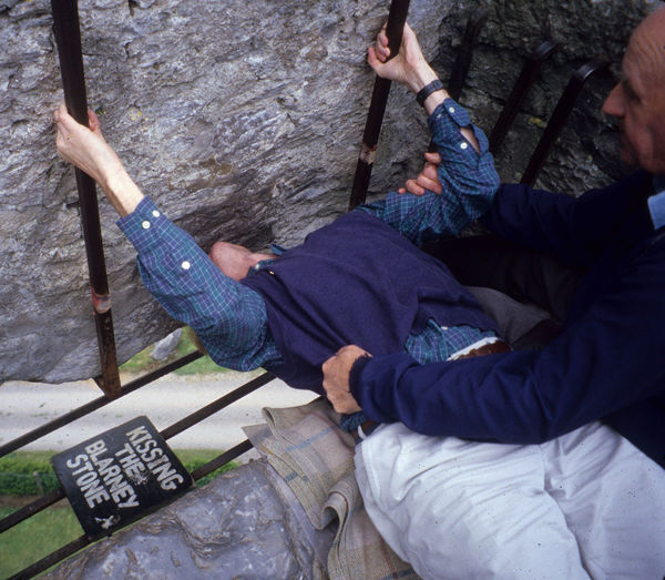 Kissing the Blarney Stone, Blarney Castle, Ireland