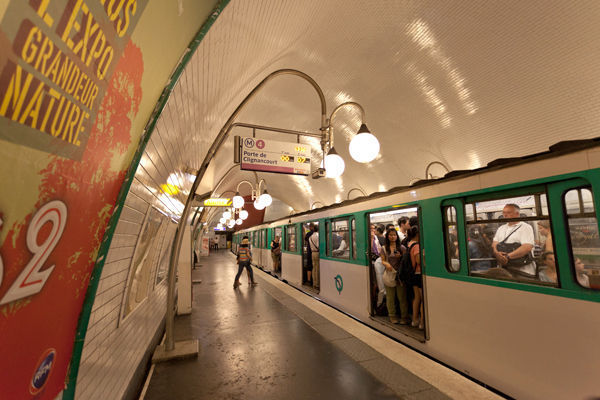 Métro station, Paris, France