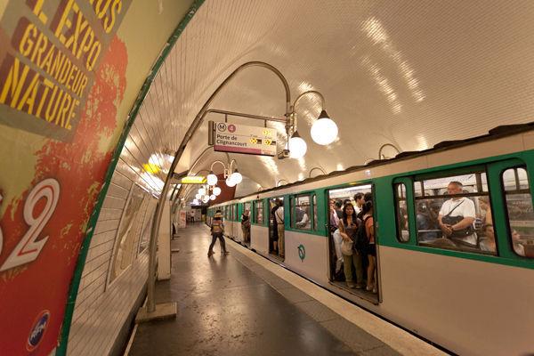 Métro station, Paris, France