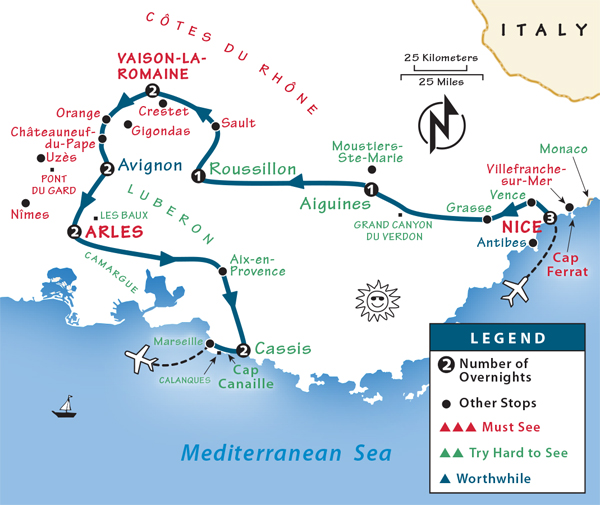 Map Of France French Riviera.Provence French Riviera Itinerary Where To Go In Provence The