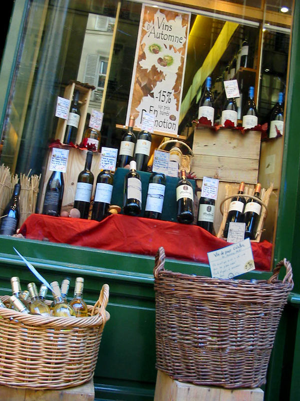 Wine shop, Paris, France