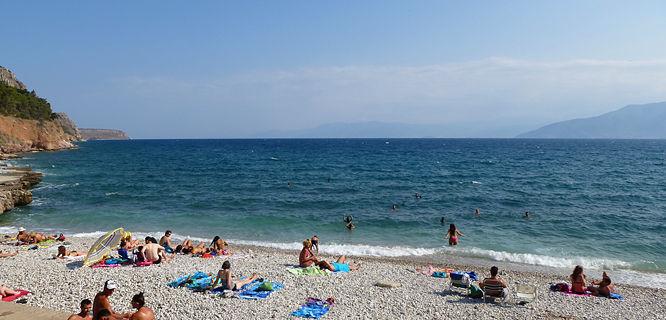 Arvanitia Beach, Nafplio, Greece
