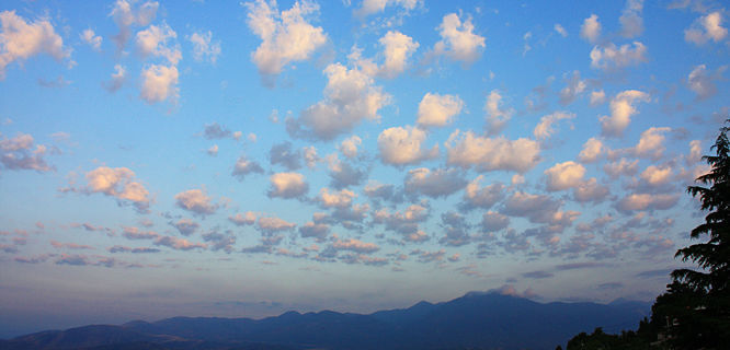 Sky over Delphi, Greece