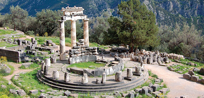 Tholos at Sanctuary of Athena Pronea, Delphi, Greece
