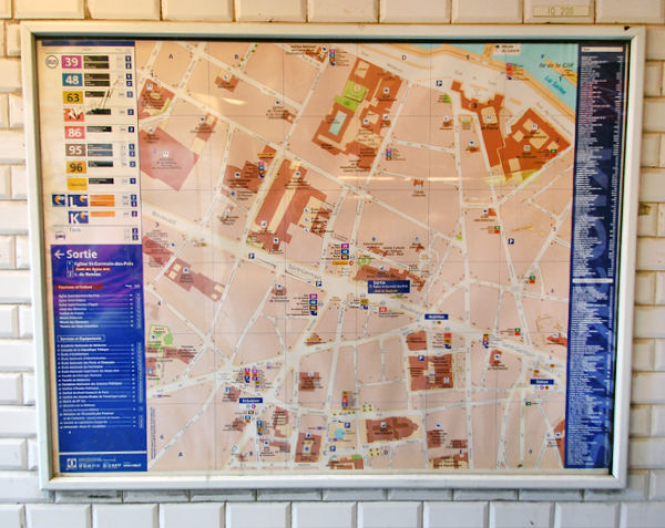 maps like this one in paris mtro stations help you get your bearings as you leave the subway