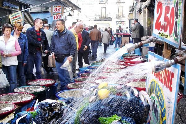 Porta Nolana fish market, Naples, Italy