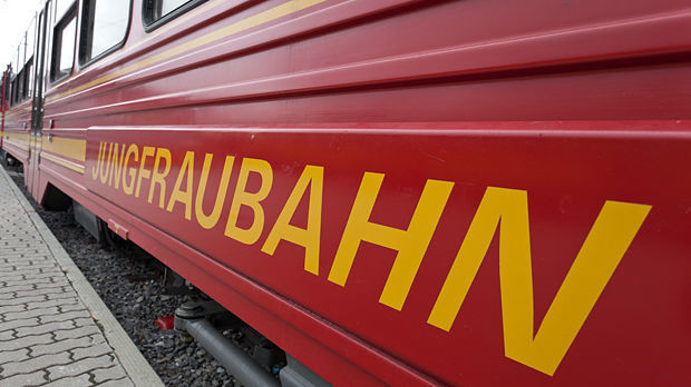 Jungfraubahn train, Berner Oberland, Switzerland