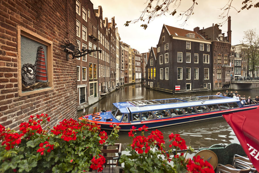 Canals of the Red Light District, Amsterdam, Netherlands