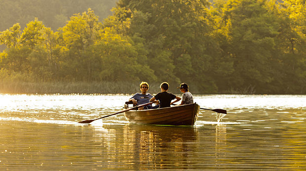 Rowboat, Plitvice Lakes National Park, Croatia