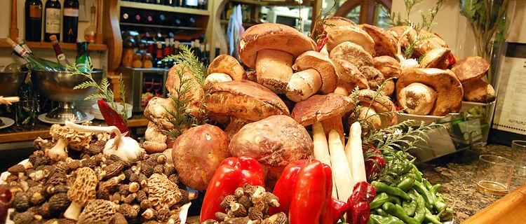 Mushroom harvest, San Sebastián, Spain