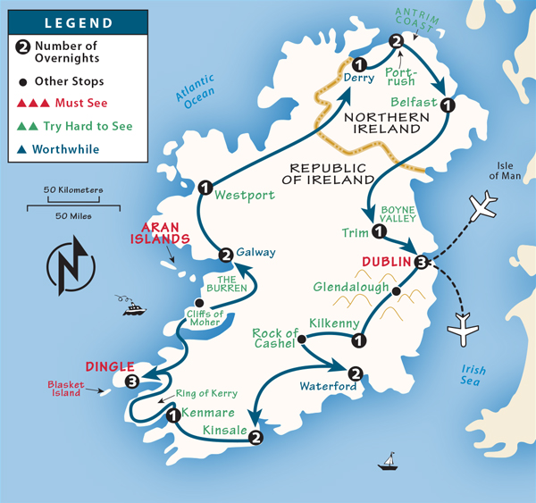 Map Of Ireland Islands.Ireland Itinerary Where To Go In Ireland By Rick Steves