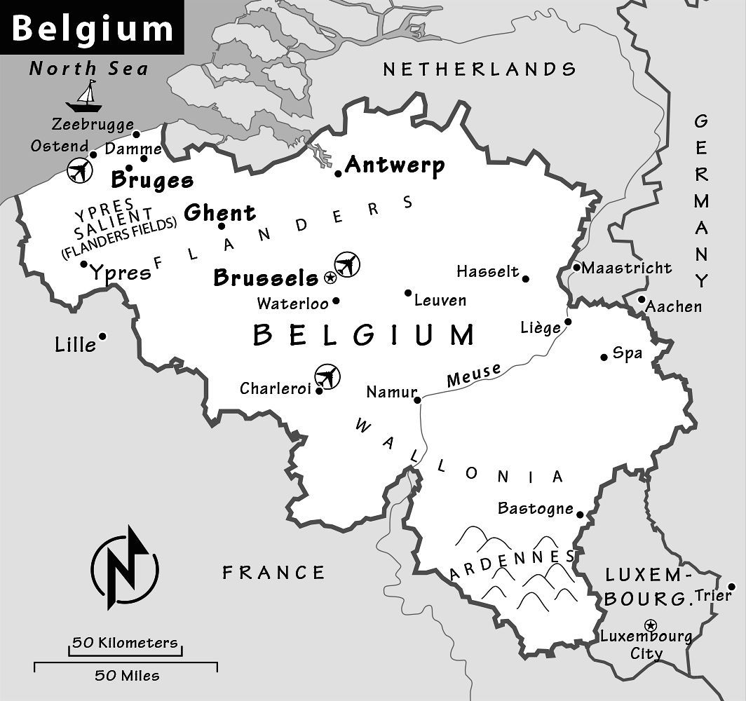 Belgium Travel Guide Resources Trip Planning Info by Rick Steves – Map of Germany and Belgium with Cities