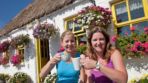 Teach Nan Phaidi café, near Dun Aengus fort, Inishmore, Aran Islands, Ireland