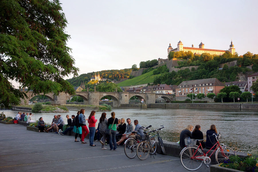 Old Main Bridge and Marienberg Fortress, Würzburg, Germany