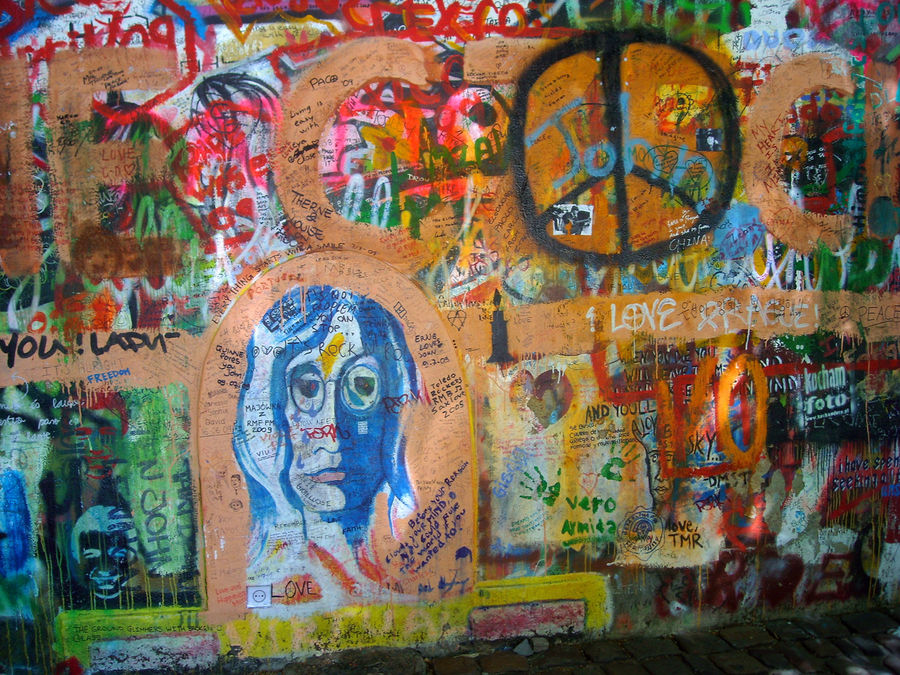 Lennon Wall, Prague, Czech Republic