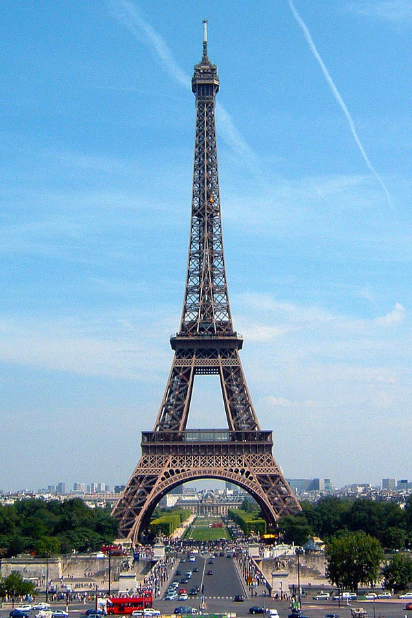 Eiffel Tower as seen from Place du Trocadéro, Paris, France