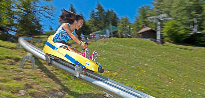 Luge ride, Lake Bled, Slovenia