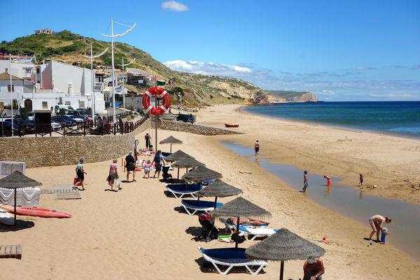 Beach in Salema, Portugal