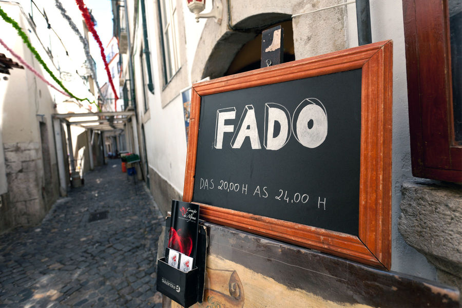 Fado bar in Alfama district, Lisbon, Portugal