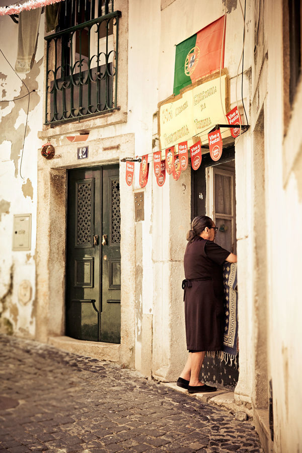 Alfama neighborhood, Lisbon, Portugal