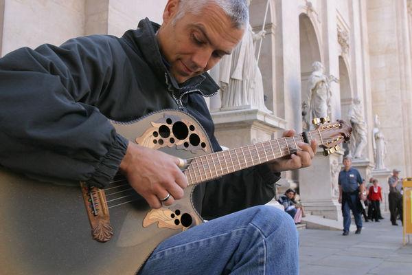 Street musician, Salzburg, Austria
