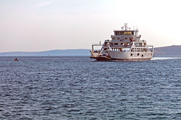 Kvarner Gulf ferry to the island of Rab, Croatia
