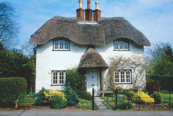 Thatched-roof home, Ireland