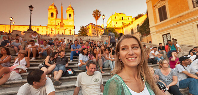 Evening at the Spanish Steps, Rome, Italy