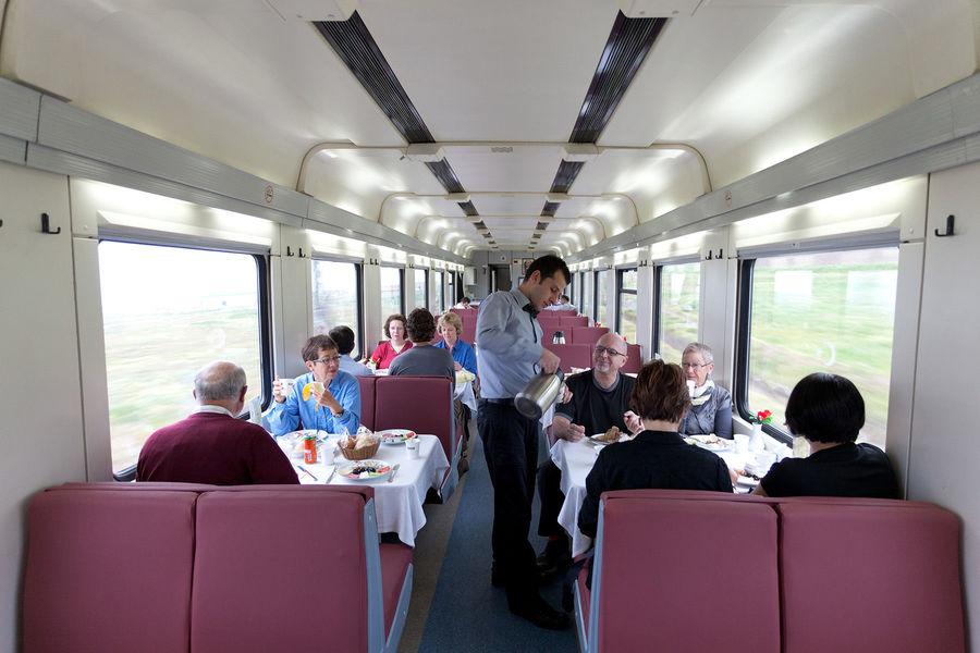 Train ride between Istanbul and Ankara, Turkey