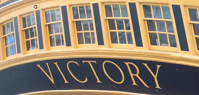 Stern of the HMS Victory, Portsmouth, England