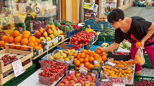 Market in Litoměřice, Czech Republic