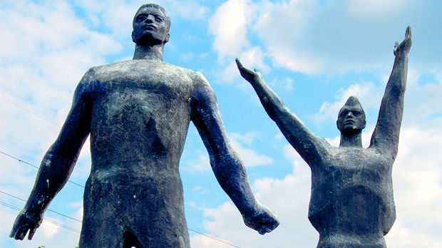 Statues in Memento Park, Budapest, Hungary