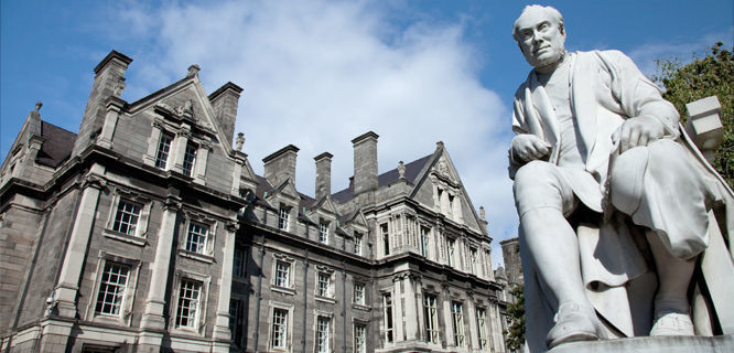 Statue of George Salmon, Trinity College, Dublin, Ireland