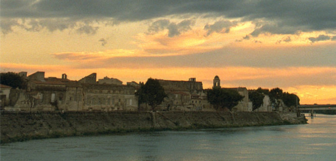 Sunset over Arles, France