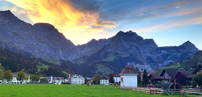 Mt. Titlus and Engelberg, Switzerland