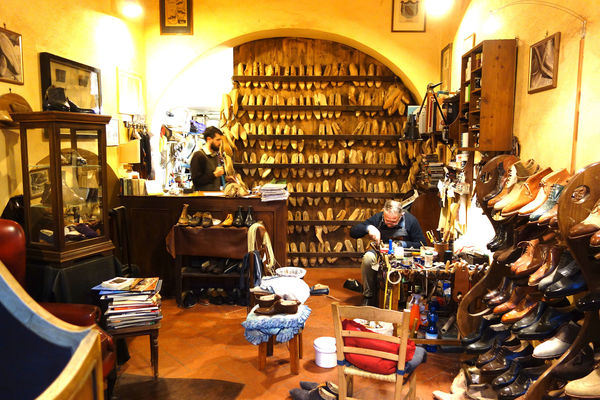 Cobbler's shop, Florence, Italy