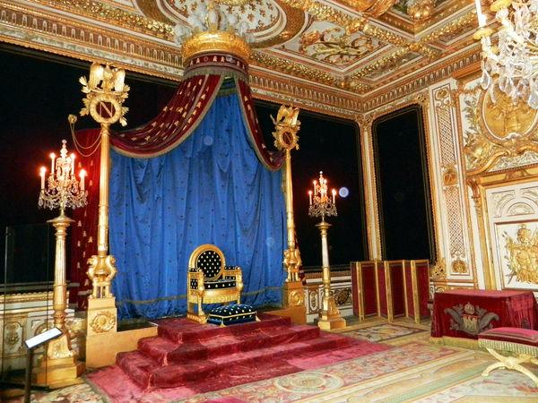 Throne room, Château de Fontainebleau, Fontainebleau, France
