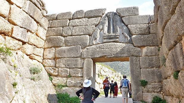 Lion Gate, archaeological site, Mycenae, Greece