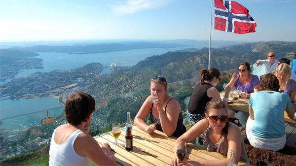 Bergen view from Mount Fløyen, Norway