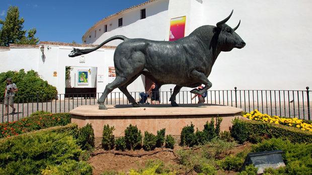 Bull statue, Ronda, Spain