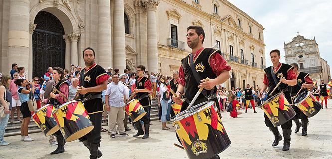 Drum brigade, Syracuse, Sicily, Italy