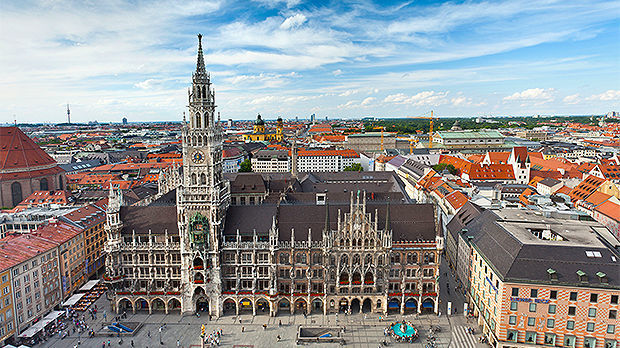 Marienplatz and New Town Hall, Munich, Germany