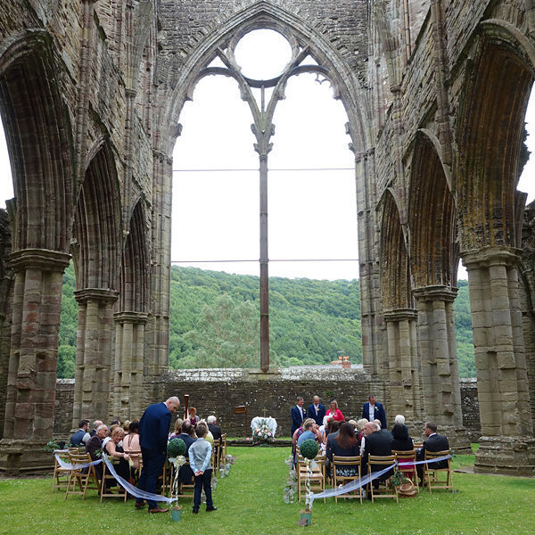 Wedding in Tintern Abbey, Wales