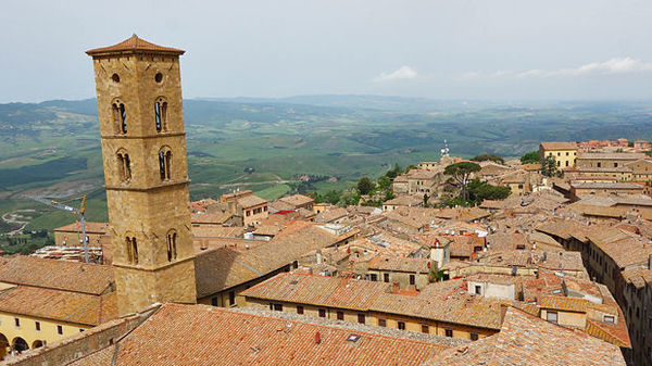 Rooftops of Volterra, Italy