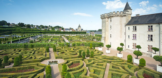 Gardens at Château de Villandry, Villandry, France