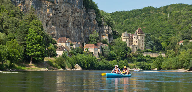Canoeing near La Roque-Gageac, France