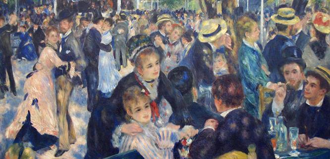 'Bal du Moulin de la Galette'  (Pierre-Auguste Renoir), Orsay Museum, Paris, France